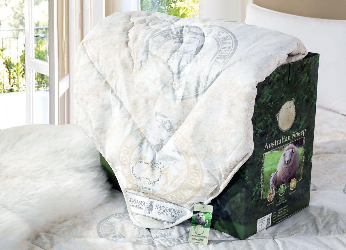 Одеяло KAZANOV.A. Australian Sheep, цвет: слоновая кость, 155 х 210 смS53-165-1.6Компания «KAZANOV.A.» разработала уникальный наполнитель из Шерсти Австралийского Барана введя в состав длинноволокнистый акрил (искусственную шерсть), что позволило улучшить эксплуатационные качества изделий: исключить комкование, которое происходит с наполнителями из 100% шерсти, сохранив лечебные свойства Шерсти Австралийского Барана. Одеяла из шерсти не собирают на себя пыль и практически не скатываются благодаря высокой извитости волокна. В шерсти заключён большой объем воздуха из-за особой структуры, и это наделяет шерстяные изделия отличной воздухопроницаемостью. Состав наполнителя 80% Шерсть (австралийский баран), 20% длинноволокнистый акрил. Наполнитель в одеялах проходит обработку ионами серебра для повышения антибактериального эффекта (предотвращая рост бактерий или грибков, а так же аллергические реакции). Упаковано одеяло в Брендовую подарочную упаковку «KAZANOV.A.»: ламинированная коробка с ручками из шелковистого витого шнура.