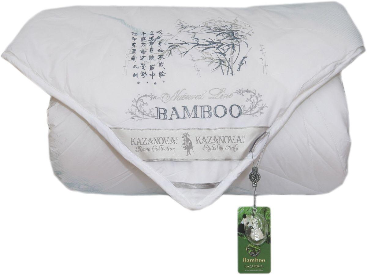 Одеяло KAZANOV.A. Bamboo, цвет: белый, 200 х 220 смК44-827-2.070% бамбук, 30% суперфайн файбер, оптимальное соотношение бамбука и экологичного гипоаллергенного наполнителя-superfine fiber сохраняет полезные свойства бамбука и делает одеяло очень легким и мягким. Чехол из высококачественного хлопка повышенной плотности с лазерным напылением-одеяло не требует дополнительного внутреннего чехла, легкое и приятное в использовании, долговечное. Отделка: вышивка бамбук над угловой лентой, выполненная шелковой нитью.