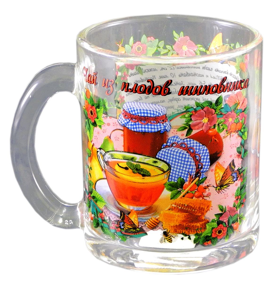 Кружка чайная Квестор  Чай из плодов шиповника , 320 мл103-004Кружка чайная Квестор  Чай из плодов шиповника , 320 мл