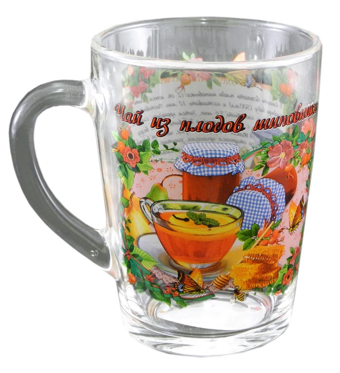 Кружка чайная Квестор Каппучино. Чай из плодов шиповника, 300 мл103-010Кружка чайная Квестор Каппучино. Чай из плодов шиповника, 300 мл