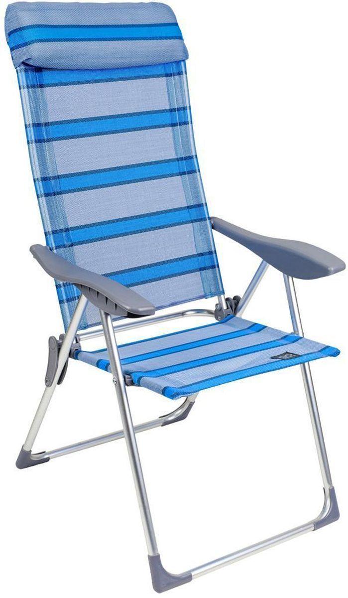 Кресло складное GoGarden Sunday, 5-позиционная регулировка, 69 х 60 х 109 см50324Садовое кресло GoGarden Sunday с высокой спинкой несмотря на достаточно большой размер очень легкое, всего 3,5 кг. 5 позиций регулировки позволяют изменять наклон спинки кресла по Вашему желанию. В максимально разложенном состоянии Вы почти лежите. Анатомическая конструкция кресла и мягкий подголовник обеспечивают хорошую поддержку спины и головы. Широкое комфортное сиденье, удобные подлокотники из высококачественного пластика, фурнитура отличного качества. Материал сиденья TEXTILENE устойчив к ультрафиолетовому излучению и образованию плесени. Благодаря своей структуре материал не впитывает влагу, быстро сохнет и очень простой в уходе. Кресло можно хранить на открытом воздухе в течение всего сезона. Сиденье не имеет поперечной рамы, что обеспечивает комфорт при длительном использовании. Конструкция ножек препятствует проваливанию кресла в землю и песок. Рама кресла выполнена из высококачественного 22/19 алюминия. В сложенном состоянии кресло не занимает...