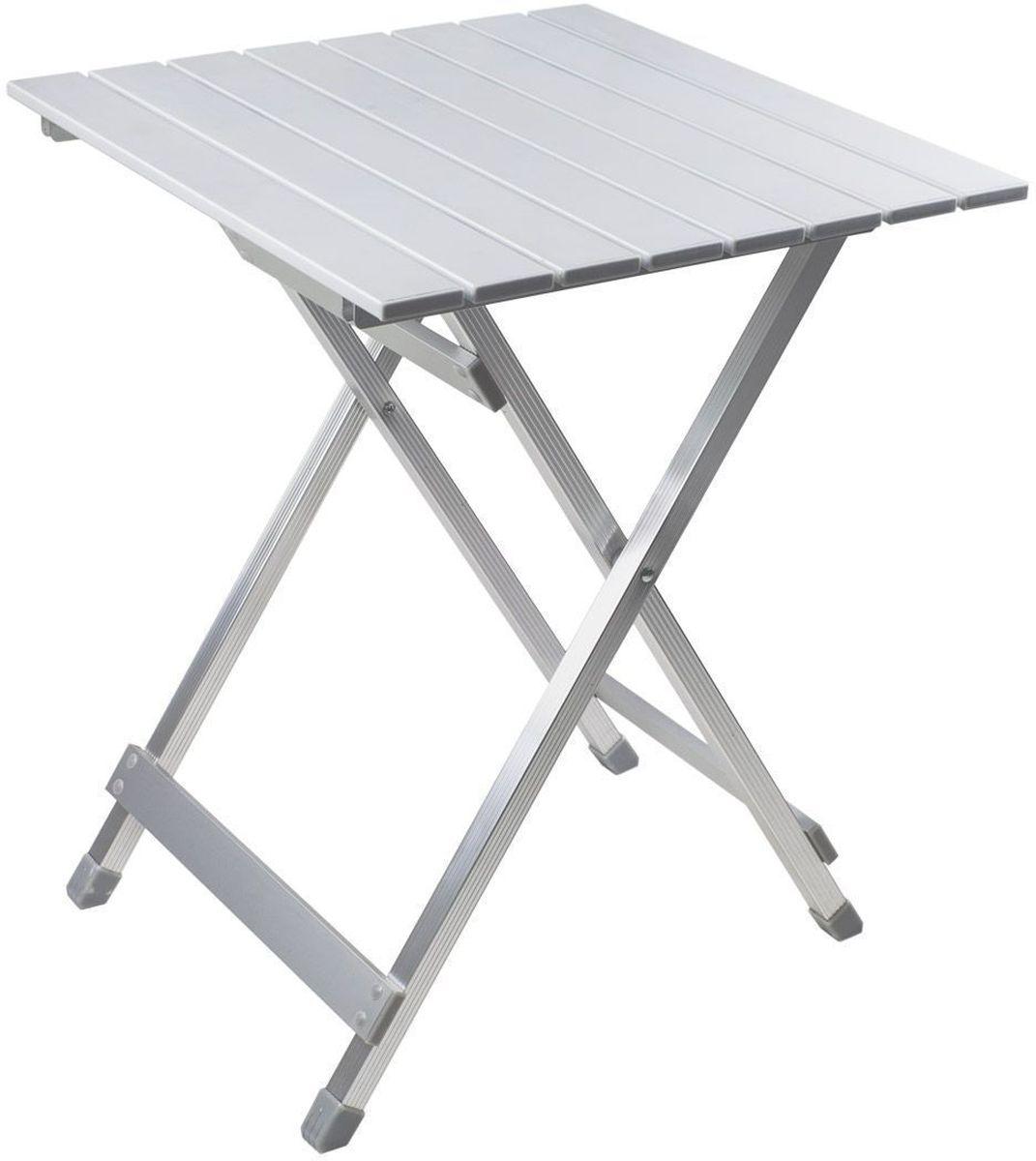 Стол складной GoGarden Compact 50, садовый, 50 х 48 х 61см50355Небольшой многофункциональный стол GoGarden Compact 50 из наборного алюминия. Легкий, компактный, в сложенном виде очень удобен для переноски. Складывается и раскладывается за 10 секунд! Прочная, устойчивая конструкция. Стол можно поставить рядом с шезлонгами для напитков, использовать для еды или как декоративную подставку под цветы и хранить на открытом воздухе в течение всего года. Рама выполнена из высококачественного 22/22 & 55/11 мм алюминия. В сложенном состоянии не занимает много места. Размер в разложенном виде: 50 х 48 х 61 см. Размер в сложенном виде: 70 х 50 х 5 см. Вес: 2,2 кг. Нагрузка: 30 кг.