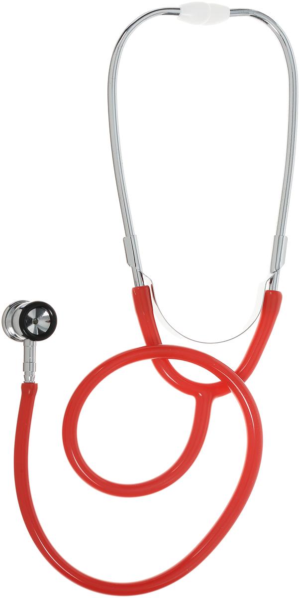 Amrus Стетоскоп медицинский двухсторонний неонатальный Диаметр мембраны 22,6 мм, диаметр воронки 21 мм цвет красный 04-AM513