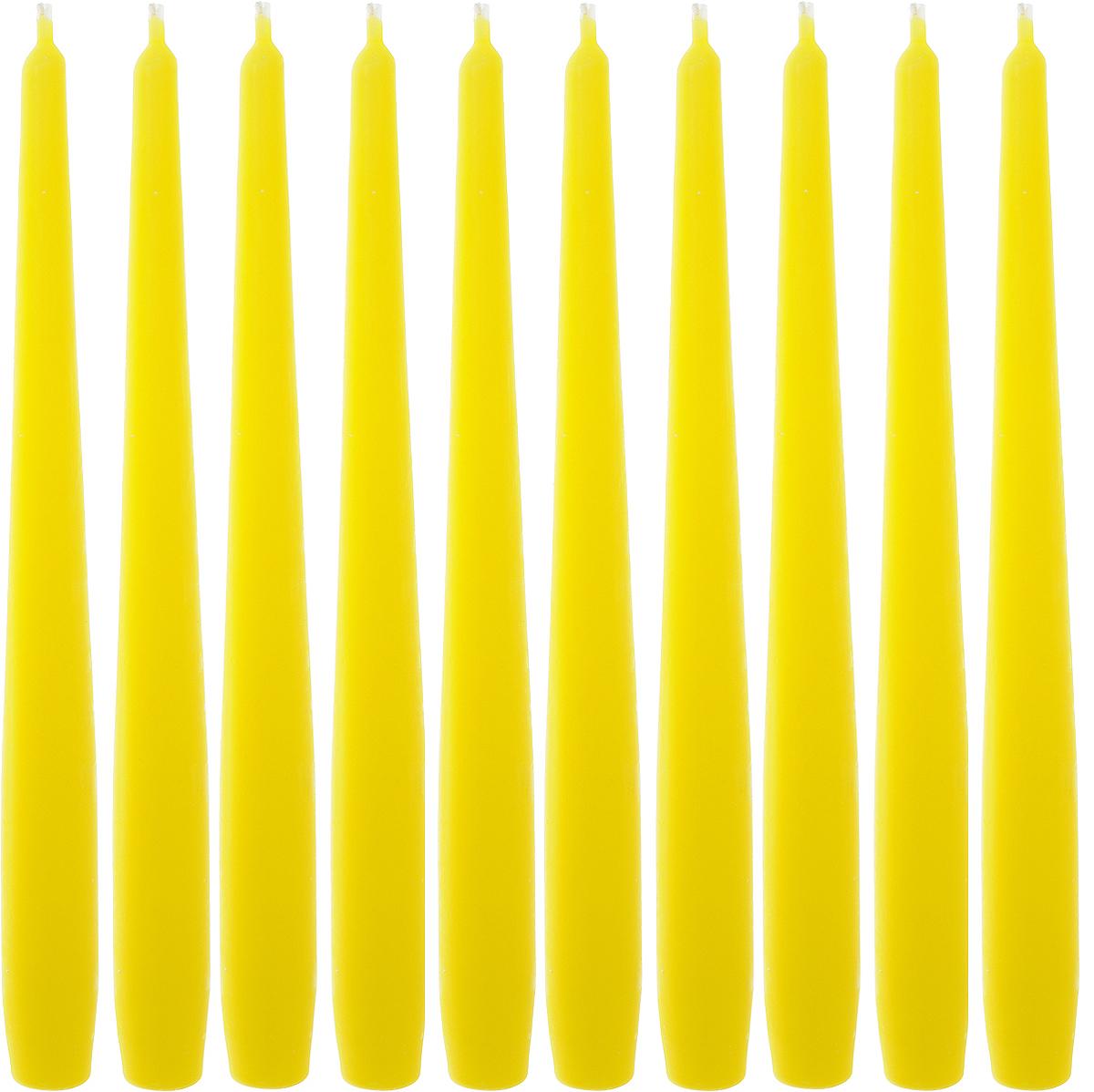 Набор свечей Омский cвечной завод, цвет: желтый, высота 24 см, 10 шт331116,001904Набор Омский cвечной завод состоит из 10 свечей, изготовленных из парафина и хлопчатобумажной нити. Такие свечи создадут атмосферу таинственности и загадочности и наполнят ваш дом волшебством и ощущением праздника. Хороший сувенир для друзей и близких. Примерное время горения: 7 часов. Высота: 24 см. Диаметр: 2 см.