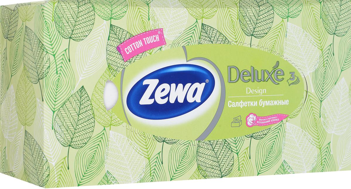 Zewa Платки косметические в коробке Софт и Стронг, цвет: зеленый, 90 шт28420_зеленыйZewa Платки косметические в коробке Софт и Стронг, цвет: зеленый, 90 шт