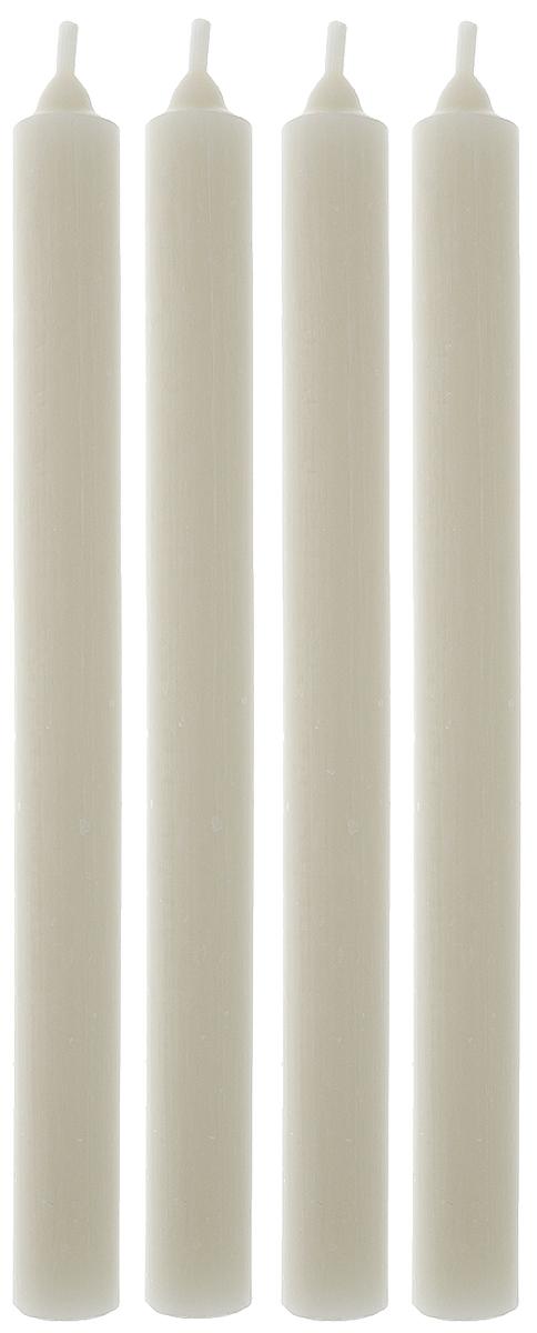 Набор свечей Омский cвечной завод, цвет: белый, высота 23,5 см, 4 шт330075, 2001Набор Омский свечной завод, состоящий из 4 свечей, выполнен из 100% парафина. Такой набор украсит интерьер вашего дома или офиса и наполнит его атмосферу теплом и уютом. Высота свечи (без учета фитиля): 23,5 см. Диаметр основания свечи: 2 см.