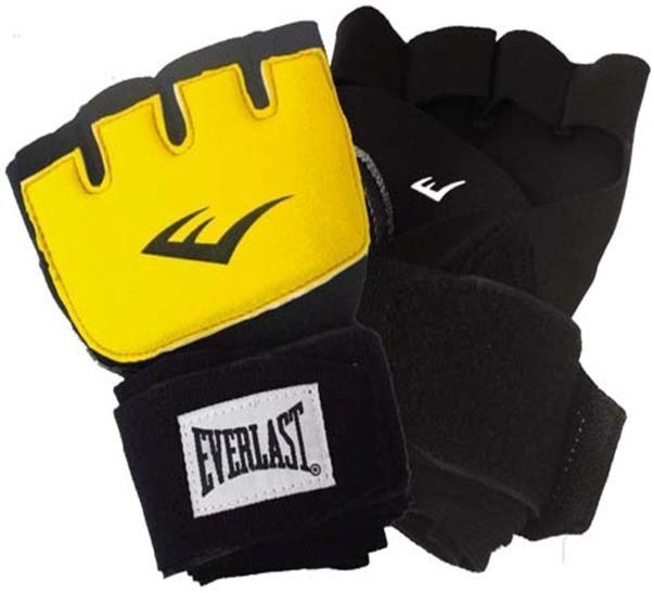 Перчатки гелевые с бинтом Everlast Duster Evergel, цвет: желтый, длина бинта 150 см. Размер S/M140842SMПерчатки гелевые с бинтом EVERLAST Duster Evergel. Предназначены для ударных видов единоборств: бокс, MMA, муай тай. Используются под тренировочные перчатки так же как и класические боксерские бинты, но отличаются быстротой бинтования на руку. Технология Evergel - обеспечивает амортизацию и защиту суставов пальцев, кистей и запястий.