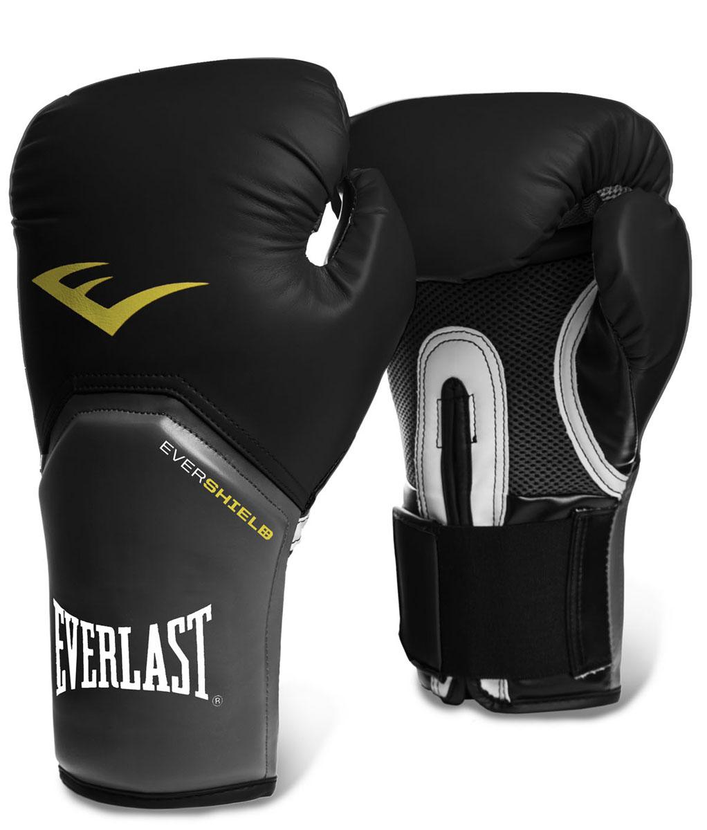 """Боксерские перчатки Everlast """"ProStyle Elite"""", цвет: черный. Вес 10 унций 2310E"""