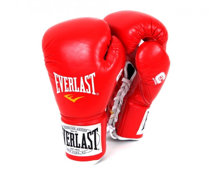 Перчатки боевые Everlast 1910 Fight, цвет: красный, вес 10 унций. Размер XL291100