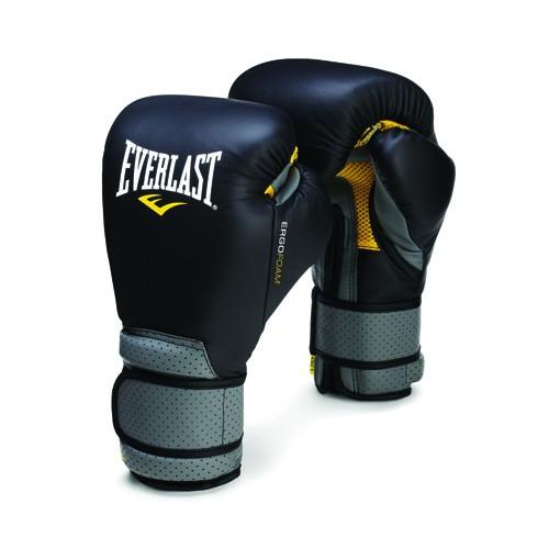 """Перчатки тренировочные Everlast """"Ergo Foam"""", цвет: черный, серый. Вес 12 унций P00000138"""