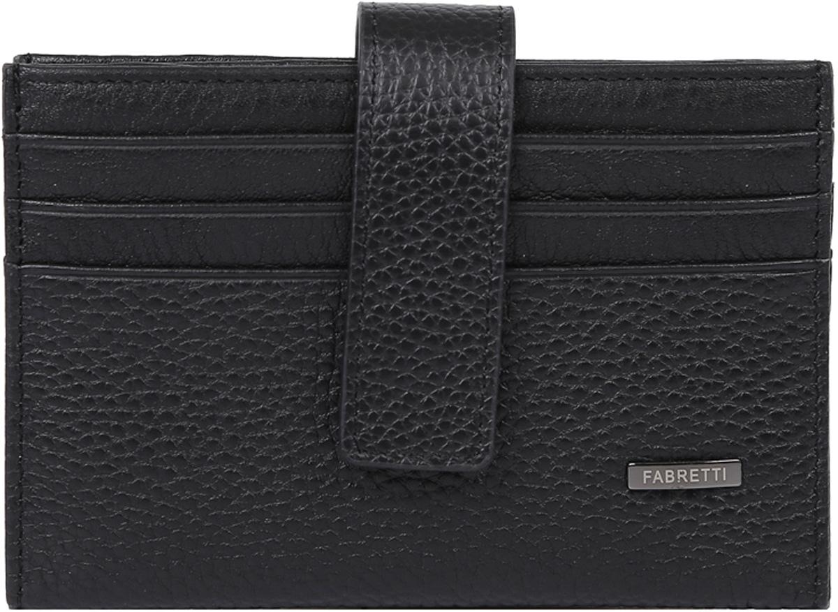 Визитница мужская Fabretti, цвет: черный. 46030-black46030-blackКлассическая визитница от итальянского бренда Fabretti выполнена из натуральной пористой кожи, которая имеет невероятно мягкую и приятную фактуру. С внешней и внутренней стороны модель содержит по 6 отделений, в которых вы сможете расположить свои визитные и дисконтные карточки. Визитница закрывается на прочную застежку.