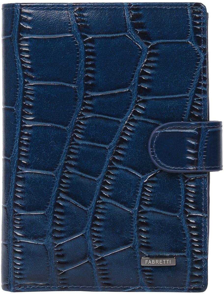 Кошелек мужской Fabretti, цвет: синий. 54022-d.blue cocco54022-d.blue coccoМужской кошелек от италянского бренда Fabretti выполнен из натуральной кожи с изысканным тиснением под рептилию. Насыщеный темно-синий цвет и стильная фурнитура в оттенке металлик превратили модель в элегантный аксессуар, который понравится любителям лаконичных и уонченных изделий. Внутри модели находятся два отделения для купюр, одно из которых закрывается на молнию. Вы сможете разместить свой паспорт и различные докуметы с помощью удобного вкладыша, а также 10 кредитных и дисконтных карт. Аксессуар достаточно вместительный, поэтому дизайнеры разместили внутри удобный карман для мелочи на кнопке. Кошелек закрывается клапаном на металлической кнопке.