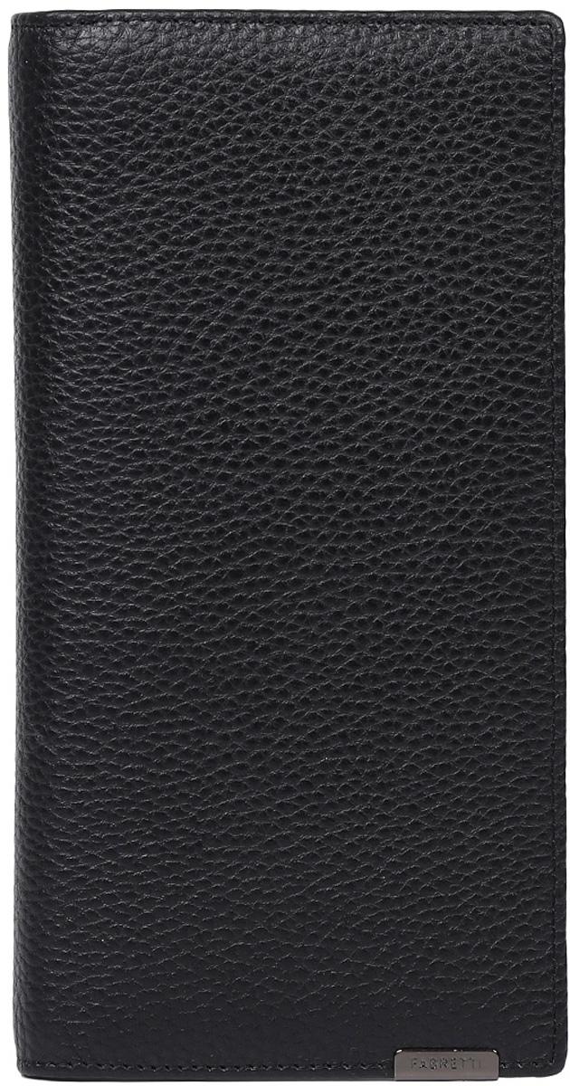 Кошелек мужской Fabretti, цвет: черный. 72519-black72519-blackКлассический мужской кошелек от итальянского бренда Fabretti выполнен из натуральной пористой кожи, которая имеет мягкую и приятную на ощупь фактуру. Внутри изделия находятся три отделения для купюр, одно из которых закрывается на молнию. Вы с легкостью сможете расположить кредитные и дисконтные карты с помощью 9 отделений, а также любимую фотографию. Внутри имеется удобный карман для мелочи, который закрывается на заклепку.