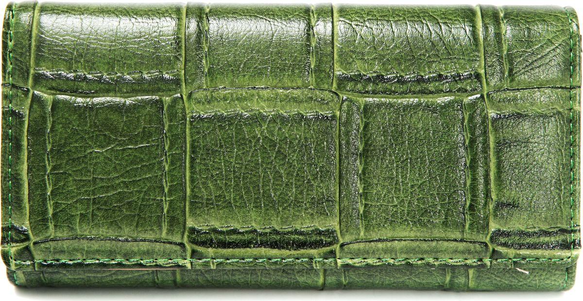 Кошелек женский Mitya Veselkov, цвет: зеленый. K3-12K3-12Женский кошелек от модного бренда Mitya Veselkov изготовлен из натуральной кожи. Купюры вмещаются в полную длину. Закрывается кошелек при помощи клапана на кнопку. Внутри расположено три отделения для купюр, кармашки для пластиковых карт и визиток, одно отделение для мелочи. Такой кошелек стильно дополнит ваш образ и станет незаменимым аксессуаром.