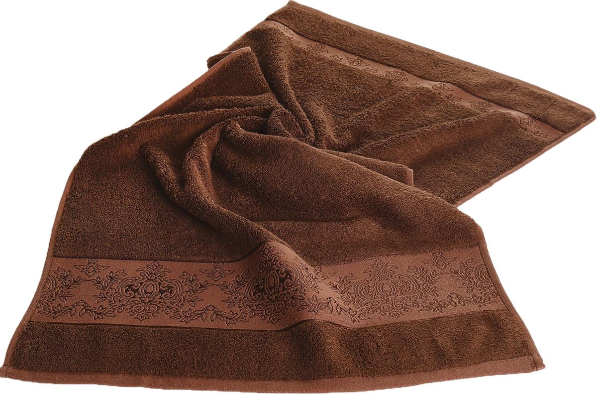 Полотенце Karna Pandora, цвет: темно-коричневый, 50 х 90 см. 21562156/CHAR007