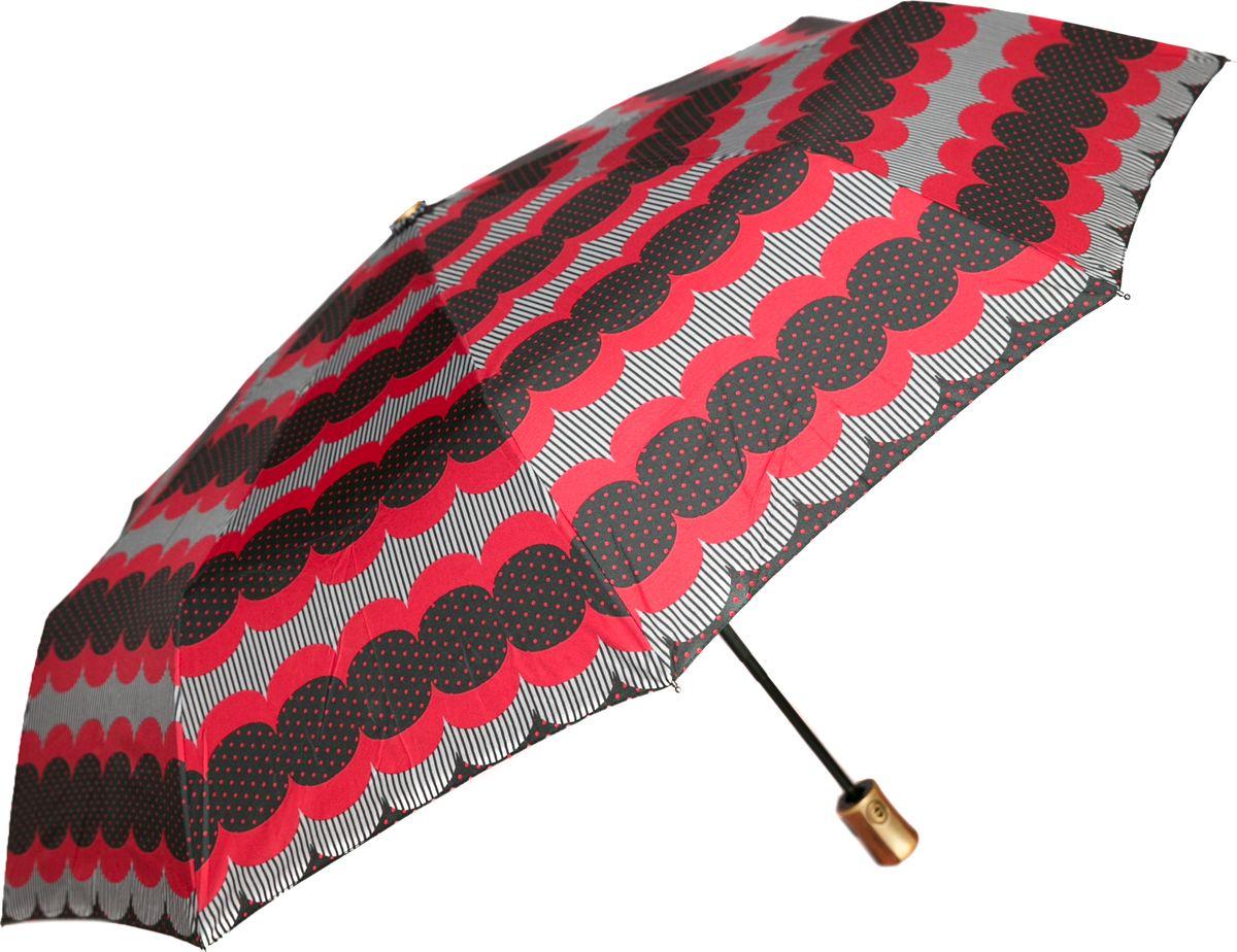 Зонт женский Mitya Veselkov, цвет: красный. ZONT2-03ZONT2-03Прекрасный и надежный автоматический зонт Mitya Veselkov укроет от дождя и станет стильным аксессуаром, дополняющим Ваш образ. Ширина купола 100 см.