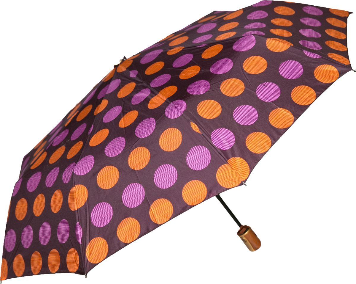 Зонт женский Mitya Veselkov, цвет: сиреневый. ZONT2-05ZONT2-05Прекрасный и надежный автоматический зонт Mitya Veselkov укроет от дождя и станет стильным аксессуаром, дополняющим Ваш образ. Ширина купола 100 см.