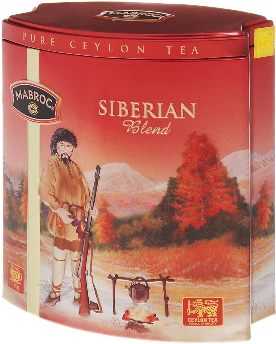 Mabroc Сибирская смесь чай черный листовой, 150 г4791029013145Чай Сибирская смесь производится из особых скрученных листьев чая, выращенных в восточном районе Шри-Ланки. Как только чай заварен, лист приобретает яркий медный цвет, что указывает на высокое качество чая. Чай отличается высокой крепостью и пользуется особым спросом у любителей по-настоящему крепких чаев. Знак в виде Льва с 17 пятнышками на шкуре - это гарантия Цейлонского Чайного Бюро на соответствие чая высокому стандарту качества, установленному Правительством и упакованному только в пределах Шри-Ланки.
