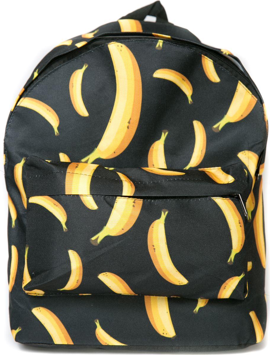 Рюкзак женский Mitya Veselkov Бананы, цвет: черный. BACKPACK-BANANASBACKPACK-BANANAS