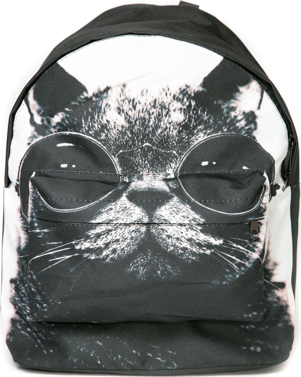 Рюкзак женский Mitya Veselkov Кошка черно-белые очки, цвет: черный. BACKPACK-CATBLACKBACKPACK-CATBLACK
