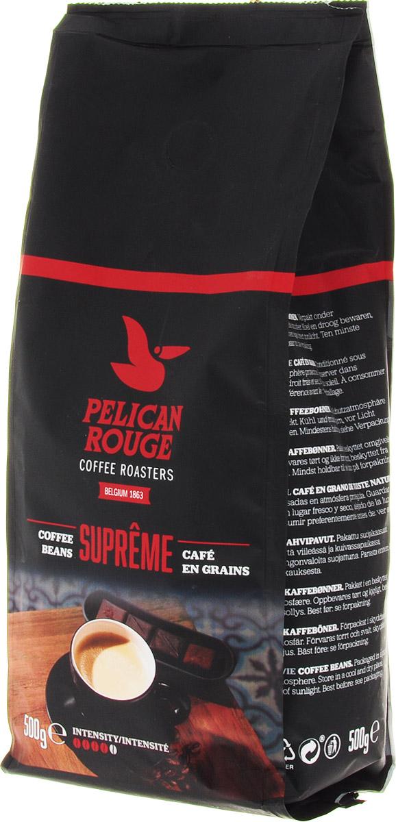 Pelican Rouge Supreme кофе в зернах, 500 г5410958119092Смесь зерен Арабики и Робусты наивысшего качества темной обжарки. Интенсивный сливочный вкус ириски с мягкой горчинкой и долгим послевкусием. Раскрывается ароматом темного шоколада. Кофе в зернах Pelican Rouge Supreme рекомендуется для приготовления эспрессо, капучино и кофейных напитков с молоком.