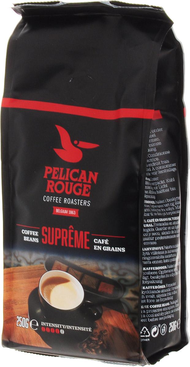 Pelican Rouge Supreme кофе в зернах, 250 г5410958118972Смесь зерен Арабики и Робусты наивысшего качества темной обжарки. Интенсивный сливочный вкус ириски с мягкой горчинкой и долгим послевкусием. Раскрывается ароматом темного шоколада. Кофе в зернах Pelican Rouge Supreme рекомендуется для приготовления эспрессо, капучино и кофейных напитков с молоком.