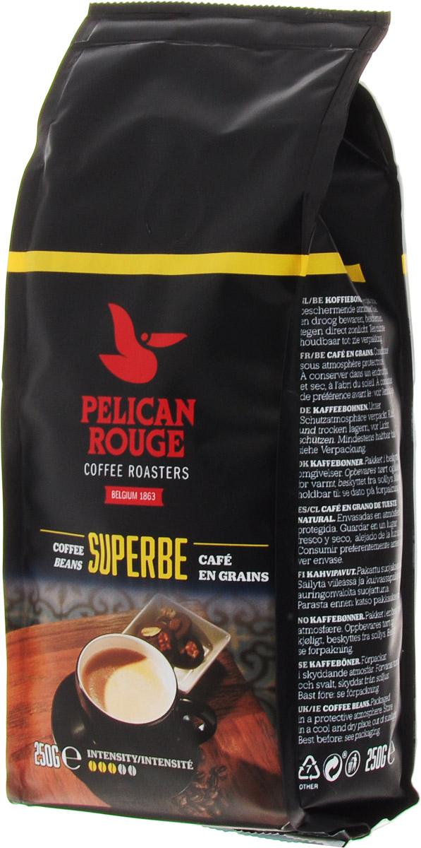 Pelican Rouge Superbe кофе в зернах, 250 г5410958118989Кофе Pelican Rouge Superbe - смесь лучших зерен Арабики и Робусты темной обжарки. Интенсивное сильное тело с легкой кислинкой и последующим сливочным послевкусием. Хорошо подходит для приготовления эспрессо, капучино и кофейных напитков с молоком. Первый сорт.