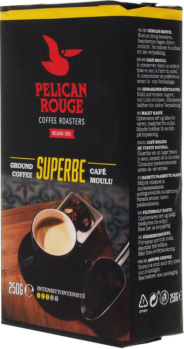 Pelican Rouge Superbe кофе молотый, 250 г5410958119016Молотый кофе Pelican Rouge Superbe - отлично сбалансированная темно обжаренная смесь. 80% Арабики и нотки лучших зерен Робусты придают этому кофе мягкое тело и послевкусие, напоминающее сливочную карамель. Хорошо подходит для приготовления фильтр-кофе.