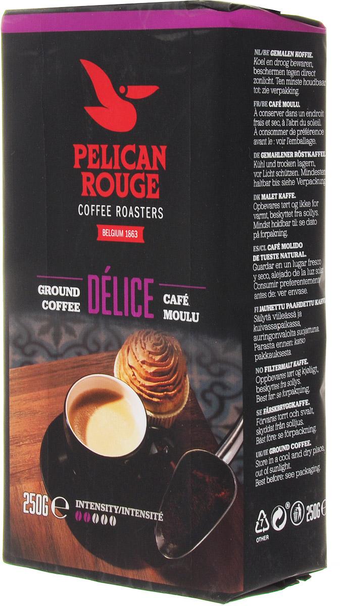 Pelican Rouge Delice кофе молотый, 250 г5410958119023Молотый кофе Pelican Rouge Delice хорошо сбалансированная 100% Арабика средней обжарки. Бархатистый и изящный вкус с фруктовыми ароматами делает его легким кофе для питья в течение всего дня. Идеально подходит для приготовления фильтр-кофе. Высший сорт.