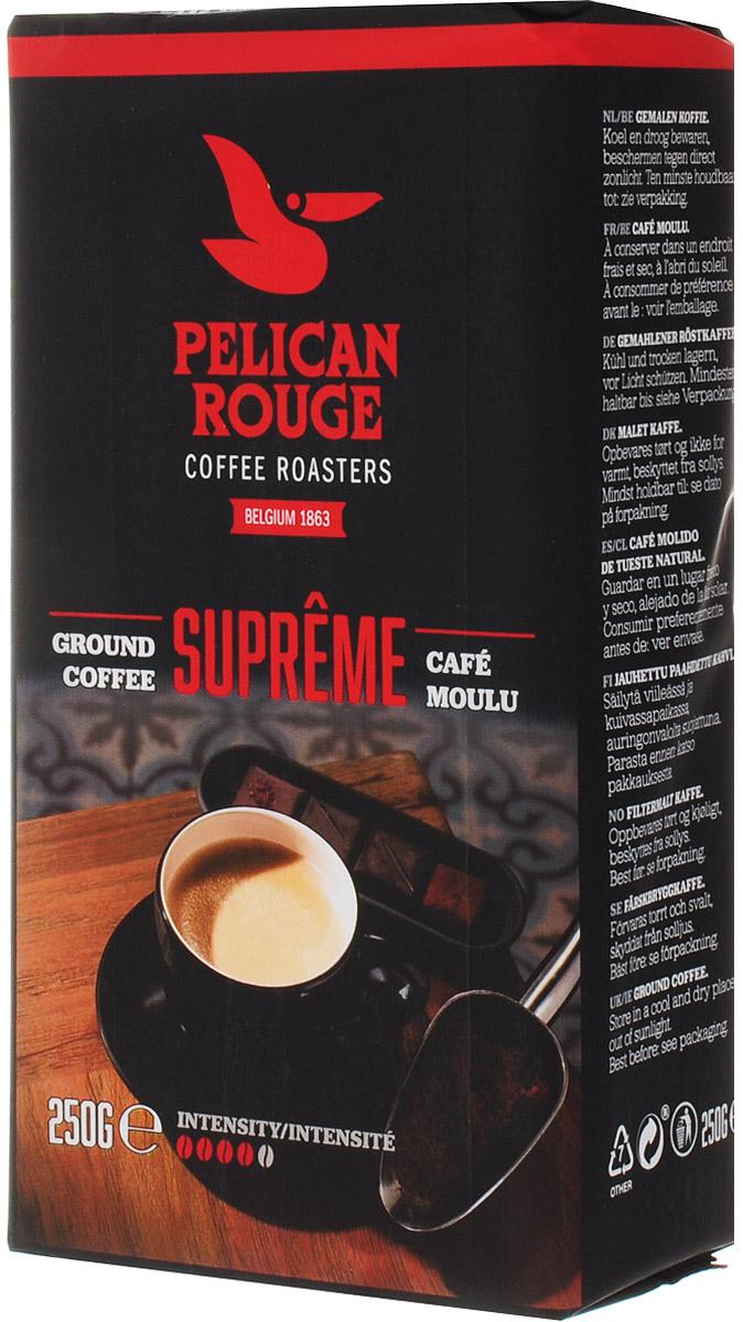 Pelican Rouge Supreme кофе молотый, 250 г5410958119009Pelican Rouge Supreme - типичный послеобеденный кофе, смелый, но сладкий, с оттенками темного шоколада. Для тех, кто любит полный и богатый вкус кофе. Рекомендуется для приготовления фильтр-кофе.