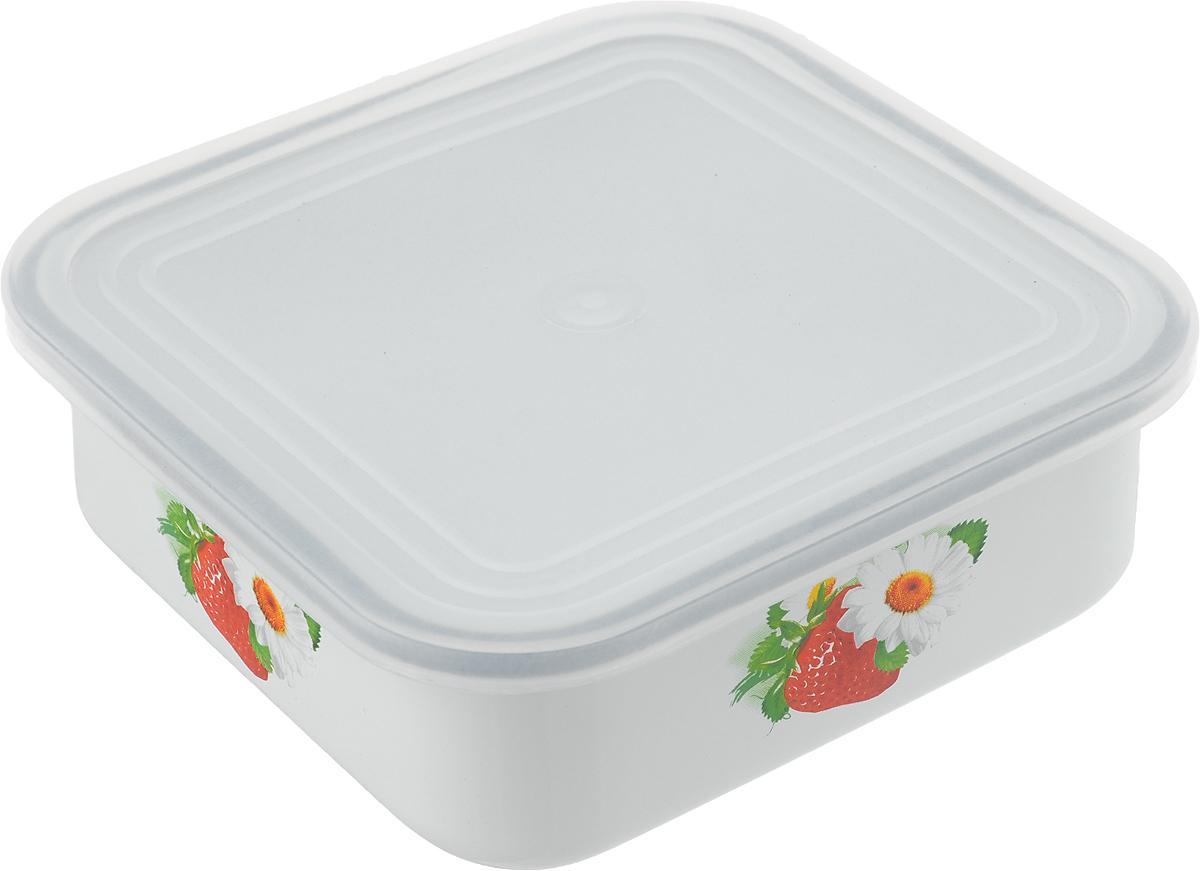 Блюдо для холодца Эмаль, с крышкой, 1 л01-2507п/4Сервировочное блюдо Эмаль, изготовленное из высококачественной эмалированной стали, прекрасно подойдет для заливного или холодца и для хранения слоеных салатов. Пластиковая крышка, входящая в комплект, сохранит свежесть вашего блюда. Такое блюдо украсит сервировку вашего стола и подчеркнет прекрасный вкус хозяйки. Не использовать в микроволновой печи.