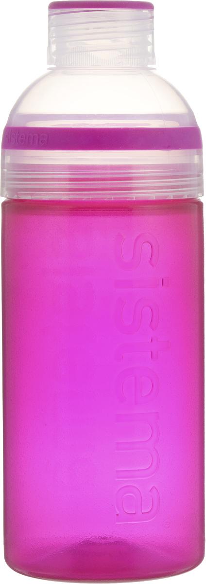 Бутылка для воды Sistema Trio, цвет: фиолетовый, 580 мл830_розовыйБутылка для воды Sistema Trio изготовлена из прочного пищевого пластика без содержания фенола и других вредных примесей. Она отлично подходит для разных напитков, особенно для прохладительных со льдом. Конструкция бутылки оригинальна и хорошо продуманна. Помимо крышки, закрывающей широкое горлышко бутылки, в емкости есть еще одна отвинчивающаяся часть. Верхняя часть бутылки откручивается, позволяя поместить в емкость кубики льда или кусочки фруктов. Кроме того, эта верхняя часть может использоваться как кружка для питья. С такой бутылкой вы сможете где угодно насладиться вашими любимыми напитками. Диаметр горлышка: 3 см. Диаметр бутылки (съемная часть): 7 см. Высота бутылки: 20,5 см.