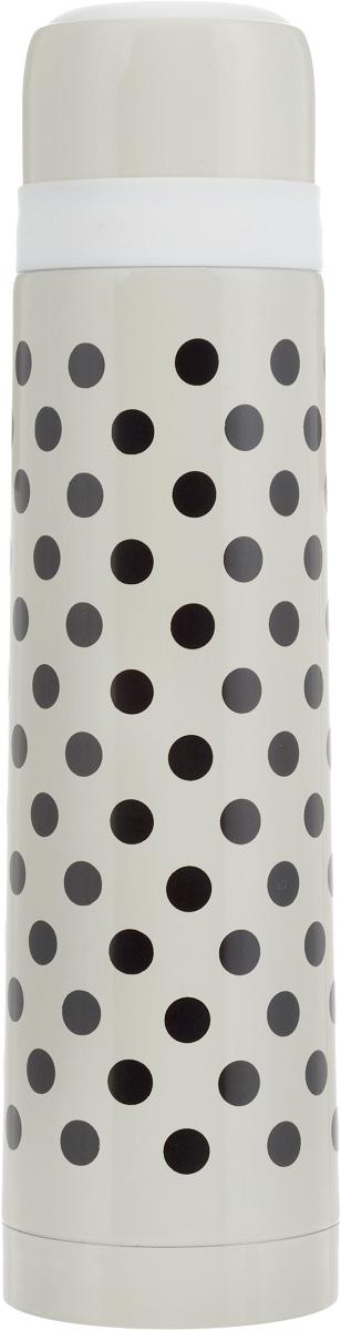 Термос Wellberg, цвет: бежевый, черный, 750 мл9435 WB_бежевыйТермос с узким горлом Wellberg, изготовленный из высококачественной нержавеющей стали и пластика, оформлен принтом в горох. Изделие является простым в использовании, экономичным и многофункциональным. Термос с двойными стенками предназначен для хранения горячих и холодных напитков (чая, кофе). Пробка с кнопкой удобна в использовании и позволяет, не отвинчивая ее, наливать напитки после простого нажатия. Изделие также оснащено крышкой-чашкой. Легкий и прочный термос Wellberg сохранит ваши напитки горячими или холодными надолго. Высота (с учетом крышки): 29 см. Диаметр горлышка: 4,5 см.