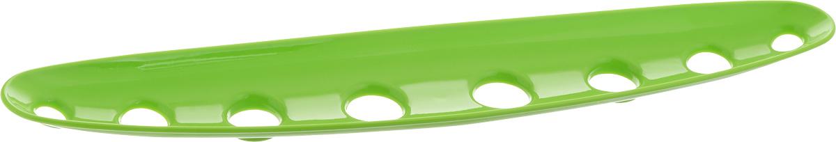 Миска для фруктов и овощей Tescoma Vitamino, продольная, цвет: зеленый, 45 х 9 х 3 см642788_зеленыйПродольная миска Tescoma Vitamino выполнена из высококачественного прочного пластика. Изделие прекрасно подходит для хранения свежих фруктов и овощей, например, яблок, груш, слив, мандаринов, помидоров, а также для ополаскивания их под проточной водой. Миска оснащена большими отверстиями для максимального доступа воздуха к хранимым продуктам. Фрукты и овощи в таком изделии дозревают естественным путем и дольше остаются свежими. Подходит для холодильника и посудомоечной машины. Размер миски: 45 х 9 х 3 см.