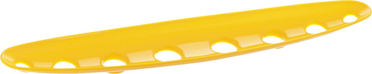 Миска для фруктов и овощей Tescoma Vitamino, продольная, цвет: желтый, 45 х 9 х 3 см642788_желтыйПродольная миска Tescoma Vitamino выполнена из высококачественного прочного пластика. Изделие прекрасно подходит для хранения свежих фруктов и овощей, например, яблок, груш, слив, мандаринов, помидоров, а также для ополаскивания их под проточной водой. Миска оснащена большими отверстиями для максимального доступа воздуха к хранимым продуктам. Фрукты и овощи в таком изделии дозревают естественным путем и дольше остаются свежими. Подходит для холодильника и посудомоечной машины. Размер миски: 45 х 9 х 3 см.