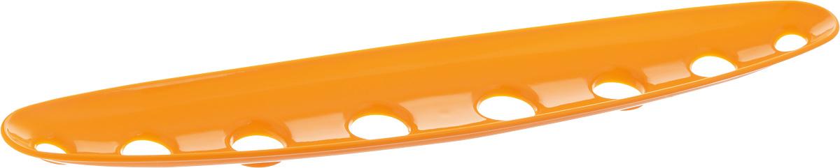 Миска для фруктов и овощей Tescoma Vitamino, продольная, цвет: оранжевый, 45 х 9 х 3 см642788_оранжевыйПродольная миска Tescoma Vitamino выполнена из высококачественного прочного пластика. Изделие прекрасно подходит для хранения свежих фруктов и овощей, например, яблок, груш, слив, мандаринов, помидоров, а также для ополаскивания их под проточной водой. Миска оснащена большими отверстиями для максимального доступа воздуха к хранимым продуктам. Фрукты и овощи в таком изделии дозревают естественным путем и дольше остаются свежими. Подходит для холодильника и посудомоечной машины. Размер миски: 45 х 9 х 3 см.