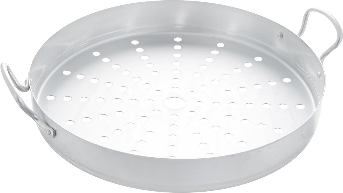 Секция к мантоварке Калитва, на 13 л, диаметр 34 см19034Секция Калитва выполнена из алюминия и предназначена для мантоварки объемом 13 л. Изделие имеет отверстия и оснащено удобными ручками. Диаметр секции: 34 см. Высота стенки: 5 см.