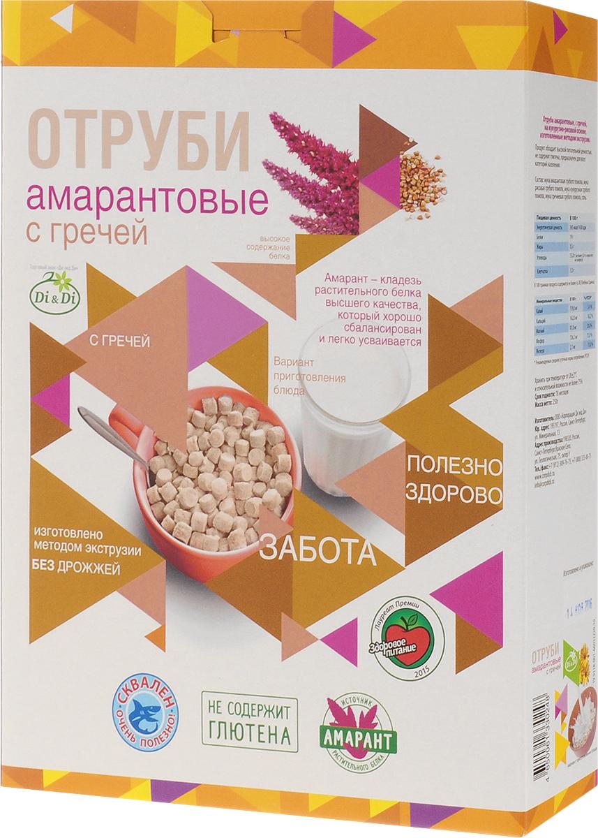 Di & Di отруби амарантовые с гречей, 250 г4650061330248Отруби из амарантовой муки - это новый продукт здорового питания. Амарант - уникальное растение, которое названо ООН продуктом 21 века. Амарант содержит в полтора раза больше белка, чем пшеница, в три раза клетчатки, в четыре раза - минеральных веществ. Амарант - кладезь сбалансированного и легко усвояемого растительного белка, витаминов, полиненасыщенных жирных кислот, омега-3 и омега-6, холина, а также триптофана, способствующего выработке гормона радости - серотонина. Именно поэтому отруби Di & Di - это прекрасные блюда для полезного питания. Самым главным достоинством амаранта является высокое содержание сквалена. Сквален является мощным профилактическим средством. Он обезвреживает свободные радикалы, канцерогены и другие токсичные вещества, которые могут вызвать онкологические заболевания. Особая технология производства позволяет сохранить витамины и минеральные вещества, содержащиеся в амаранте. Благодаря этому отруби из амарантовой муки обладают высокой...