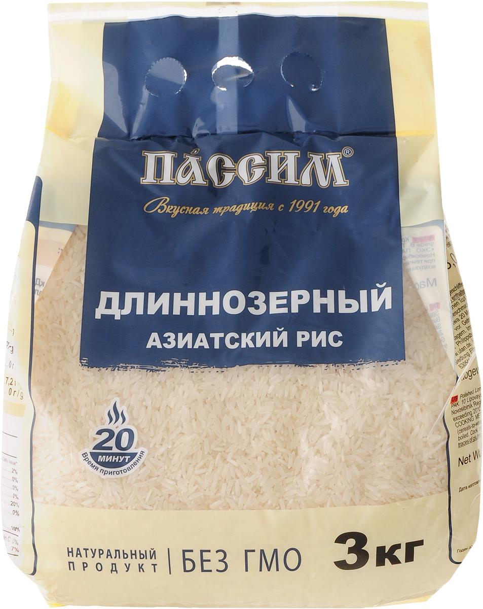 Пассим рис длиннозерный, 3 кг4605093010194Неоспоримым фактом является то, что самый важный ингредиент в азиатской кухне - идеальный белый рис, именно его Пассим предлагает вам для создания кулинарных шедевров. Время приготовления - 20 минут.