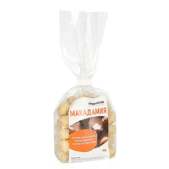 UFEELGOOD Макадамия орех, 150 г1005Орехи макадамия являются настоящей кладезью витаминов с питательными веществами, включая кальций с жирными кислотами, протеинами, клетчаткой, эфирными маслами, минералами и глюкозой. Важно отметить, что макадамия является ценнейшим источником железа растительного происхождения, поэтому данный орех жизненно необходим людям, которые страдают таким заболеванием, как анемия.