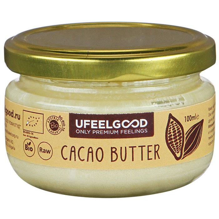 UFEELGOOD Cacao Butter какао масло органическое, 100 мл4680016091405Данное какао масло прошло сертификацию, оно является необработанным натуральным продуктом. Масло из какао бобов получают путём холодного прессования, что позволяет сохранять и сконцентрировать в масле все полезные свойства растения. Масло какао обладает многими полезными свойствами: Замедляет старение кожи, Восстанавливает водный баланс, Разглаживает морщины, Поддерживает здоровье сердца, Снижает кровяное давление, Снижает угрозу сердечно-соссудистых заболеваний. Какао масло рекомендуют употреблять не только в пищу, но и наружно для местного увлажнения, смягчения кожи. Оно эффективно при лечении дерматита, помогает при появлении шрамов, растяжек. Наше перуанское какао масло признано самым вкусным и полезным шоколадным продуктом. Оно исключает добавление химических усилителей вкуса и сахаров.
