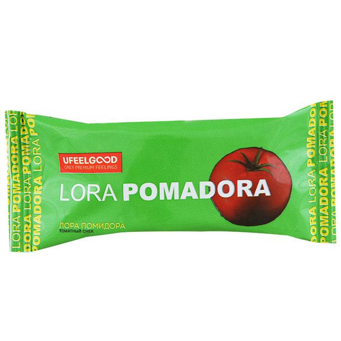 UFEELGOOD Лора Помидора томатный снек, 30 г526Томатный снек Лора Помидора изготовлен из натуральных продуктов (без дрожжей, молока, яиц и злаковых). В составе не используются примеси для усиления вкуса, химические вещества, различные стабилизаторы и многое другое. Именно поэтому томатные снеки Лора Помидора могут не только присутствовать в вегетарианском или диетическом меню, но и стать любимым блюдом для людей, ценящих свое здоровье.