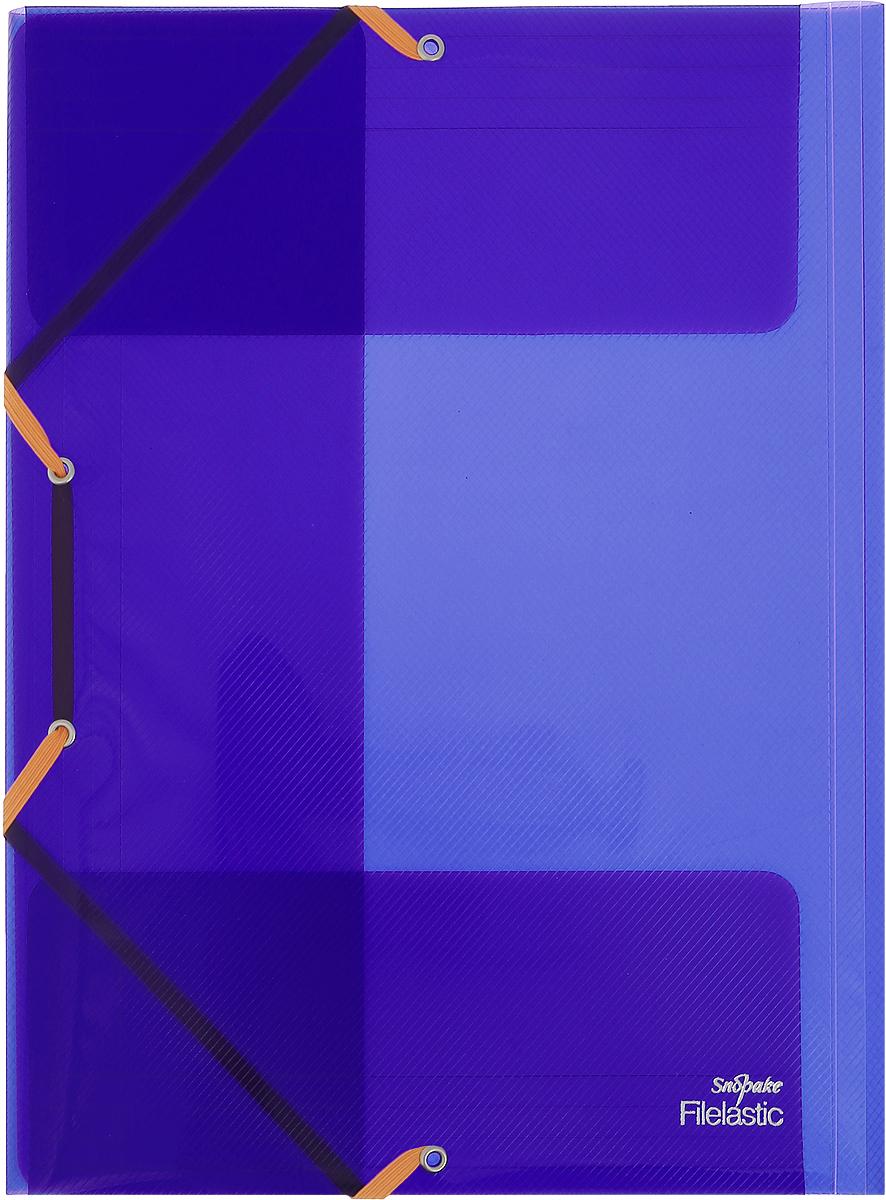 Snopake Папка-конверт на резинке Filelastic Electra цвет фиолетовыйK13720_фиолетовыйПапка-конверт на резинке Snopake Filelastic Electra  - это удобный и функциональный офисный инструмент, предназначенный для хранения и транспортировки рабочих бумаг и документов формата А4. Папка с двойной угловой фиксацией резиновой лентой изготовлена из износостойкого полупрозрачного пластика. Внутри папка имеет три клапана, что обеспечивает надежную фиксацию бумаг и документов. Папка - это незаменимый атрибут для студента, школьника, офисного работника. Такая папка надежно сохранит ваши документы и сбережет их от повреждений, пыли и влаги.