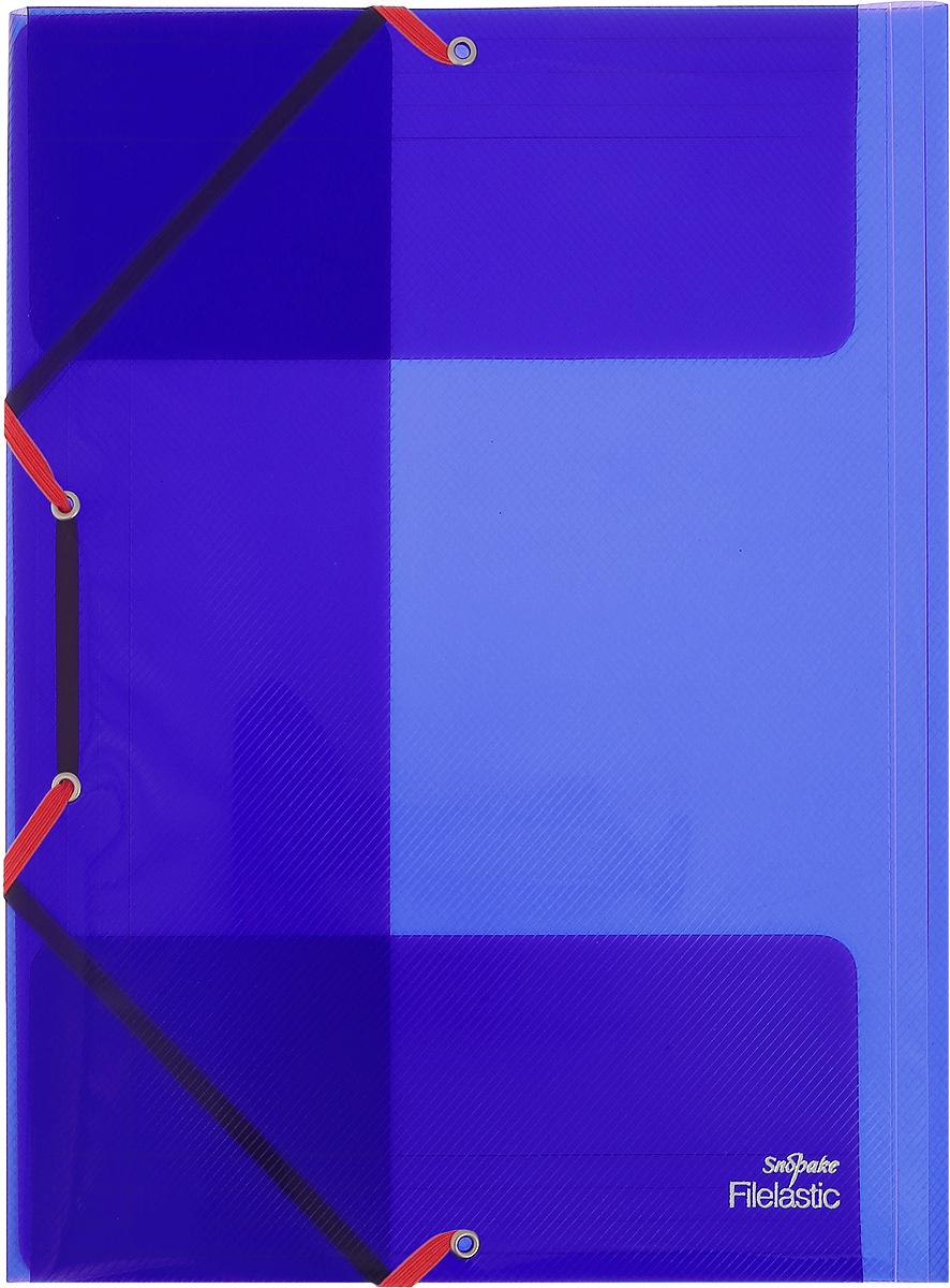 Snopake Папка-конверт на резинке Filelastic Electra цвет синийK13720_синийПапка-конверт на резинке Snopake Filelastic Electra  - это удобный и функциональный офисный инструмент, предназначенный для хранения и транспортировки рабочих бумаг и документов формата А4. Папка с двойной угловой фиксацией резиновой лентой изготовлена из износостойкого полупрозрачного пластика. Внутри папка имеет три клапана, что обеспечивает надежную фиксацию бумаг и документов. Папка - это незаменимый атрибут для студента, школьника, офисного работника. Такая папка надежно сохранит ваши документы и сбережет их от повреждений, пыли и влаги.
