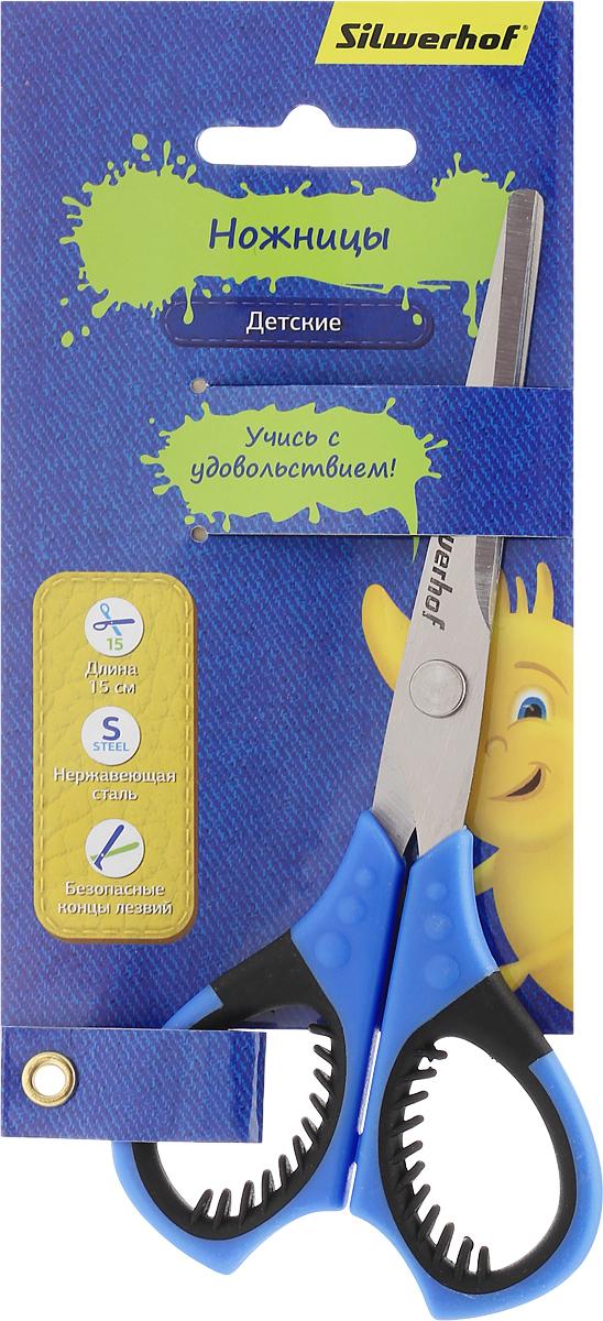 Silwerhof Ножницы детские Джинсовая коллекция цвет синий 15 см453085_синийДетские ножницы Silwerhof Джинсовая коллекция предназначены для резки бумаги, картона, фотографий. Ножницы - отличное дополнение творческого арсенала вашего ребенка. Они выполнены из прочного металла и дополнены удобными пластиковыми ручками с мягкими вставками. Изделие отлично подойдет для изготовления различных поделок и аппликаций. Закругленные концы лезвий уберегут малыша от нечаянных травм. Яркая расцветка модели позволит быстро найти ножницы во множестве предметов для творчества. Продуманный до мелочей аксессуар разработан специально для детей школьного возраста.