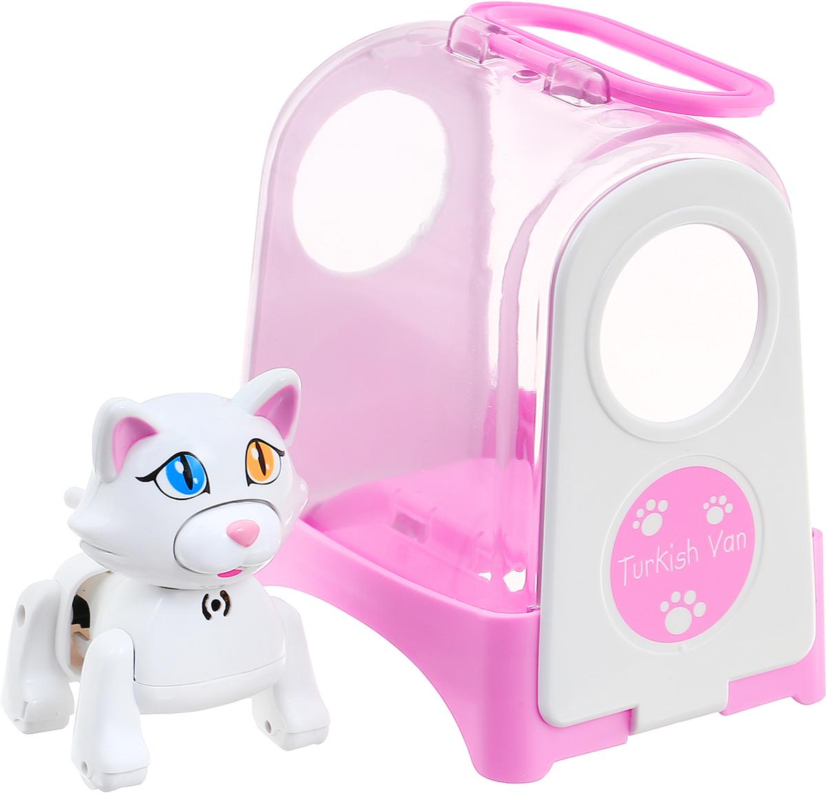 DigiFriends Интерактивная игрушка Котенок в переноске цвет белый 88512_белый
