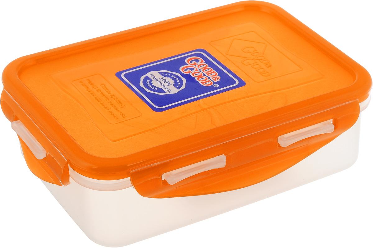 Контейнер пищевой Good&Good, цвет: прозрачный, оранжевый, 0,5 лB/COL 2-1Прямоугольный контейнер Good&Good изготовлен из высококачественного полипропилена и предназначен для хранения любых пищевых продуктов. Благодаря особым технологиям изготовления, лотки в течение времени службы не меняют цвет и не пропитываются запахами. Крышка с силиконовой вставкой герметично защелкивается специальным механизмом. Контейнер Good&Good удобен для ежедневного использования в быту. Можно мыть в посудомоечной машине и использовать в микроволновой печи. Размер контейнера (с учетом крышки): 16 х 10,8 х 5,4 см.