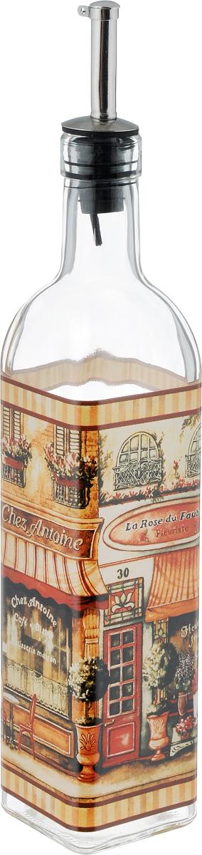 Бутылка для масла и уксуса SinoGlass Бутик, 500 млSI-804148018-ALБутылка для масла и уксуса SinoGlass Бутик, выполненная из стекла, украсит любую кухню. Металлическая крышка с носиком снабжена клапаном антикапля, не допускающим пролива. Стенки бутылки прозрачные, поэтому вы с легкостью можете видеть содержимое. Оригинальная бутылка будет отлично смотреться на вашей кухне. Объем: 500 мл. Размер основания: 5,5 х 5,5 см. Высота бутылки: 31 см.