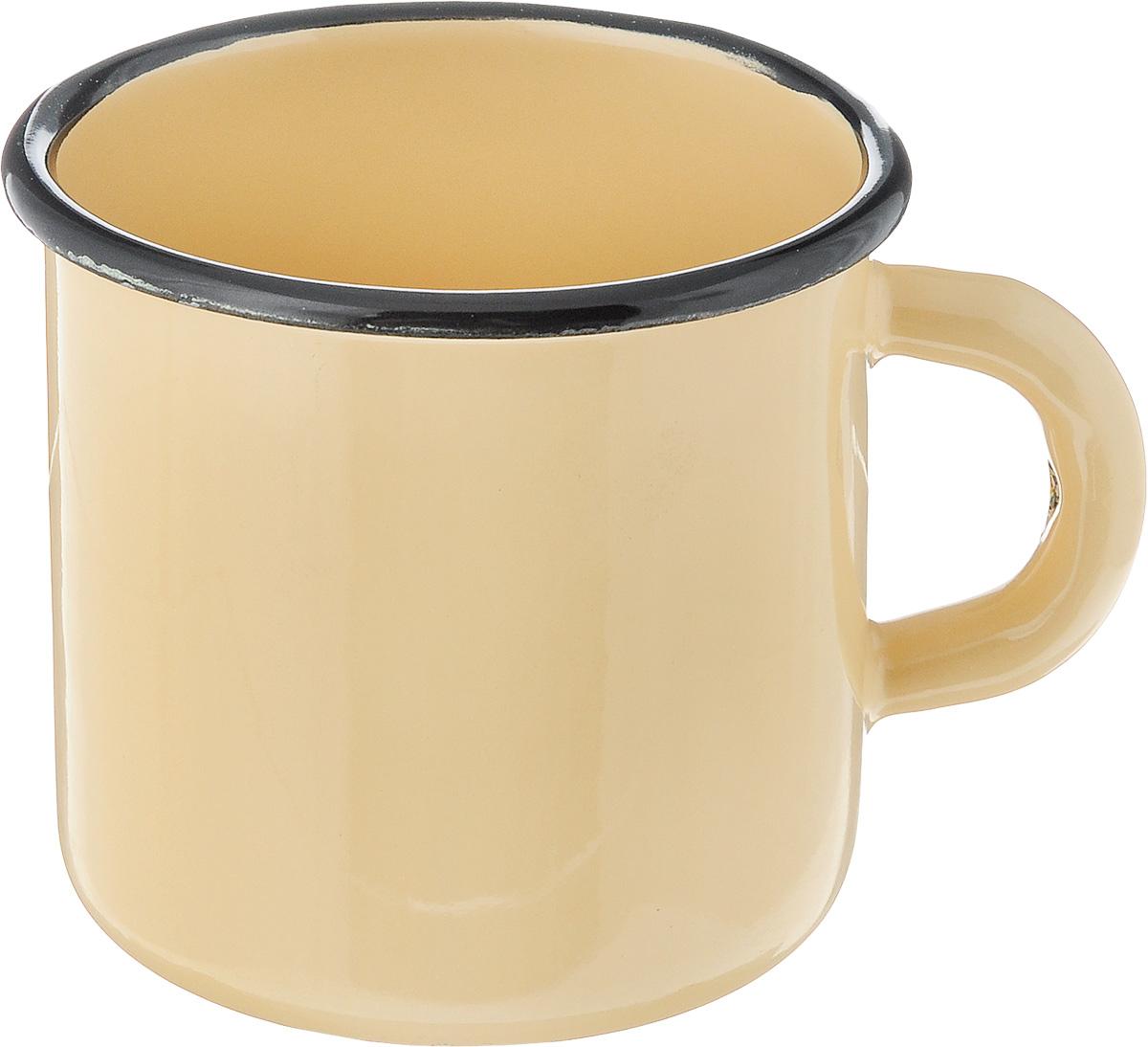 Кружка эмалированная СтальЭмаль, цвет: желтый, 400 мл1с2сКружка СтальЭмаль изготовлена из высококачественной стали с эмалированным покрытием. Она оснащена удобной ручкой. Такая кружка не требует особого ухода и ее легко мыть. Благодаря классическому дизайну и удобству в использовании кружка займет достойное место на вашей кухне.