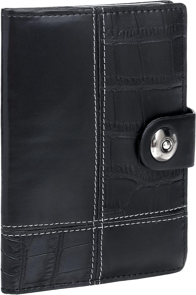 Обложка для автодокументов женская Leighton, цвет: черный. 730730 blackЖенская обложка для автодокументов Leighton выполнена из искусственной кожи. Обложка закрывается на магнитную кнопку. Внутри вкладыш для автодокументов, отделение для паспорта, пять карманов для пластиковых карт.